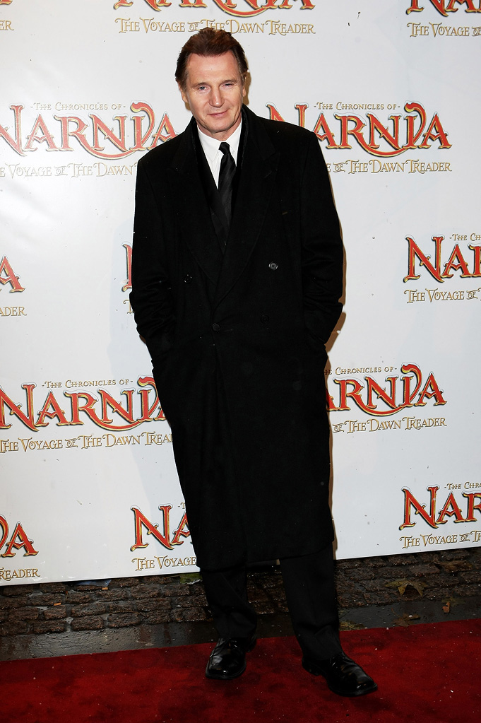 The Chronicles of Narnia The Voyage of the Dawn Treader 2010 UK Premiere Liam Neeson