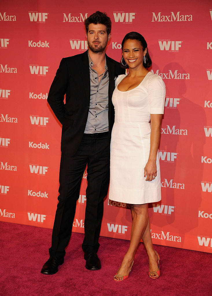 Crystal + Lucy Awards 2009 Robin Thicke Paula Patton