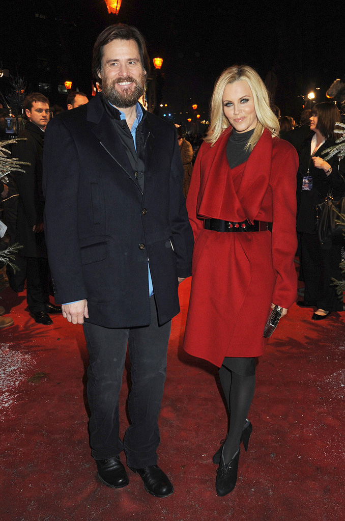Disney's A Christmas Carol UK Premiere 2009 Jim Carrey Jenny McCarthy