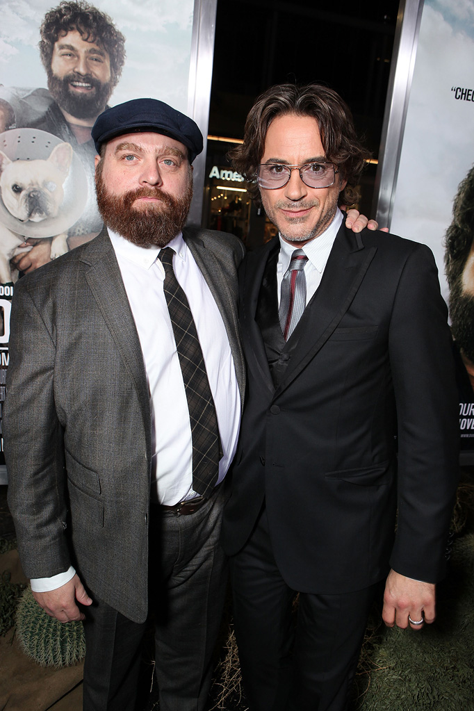 Due Date LA Premiere 2010 Zach Galifianakis Robert Downey Jr.