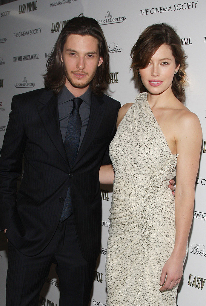 Easy Virtue NY Screening 2009 Ben Barnes Jessica Biel