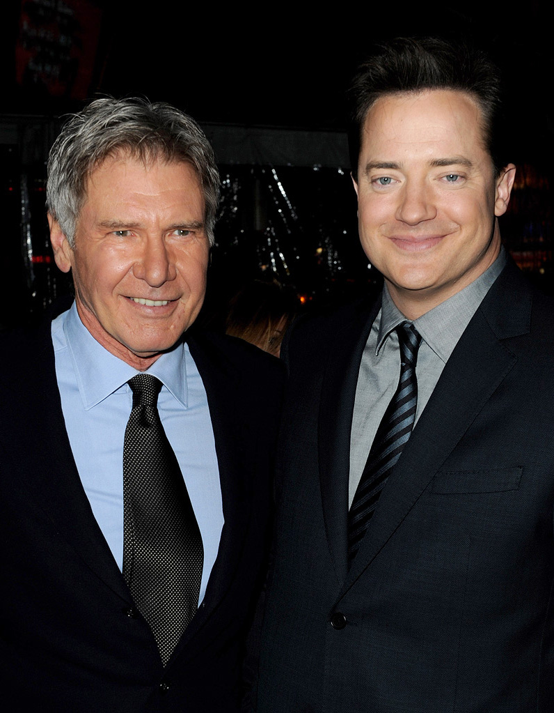 Extraordinary Measures LA Premiere 2010 Harrison Ford Brendan Fraser