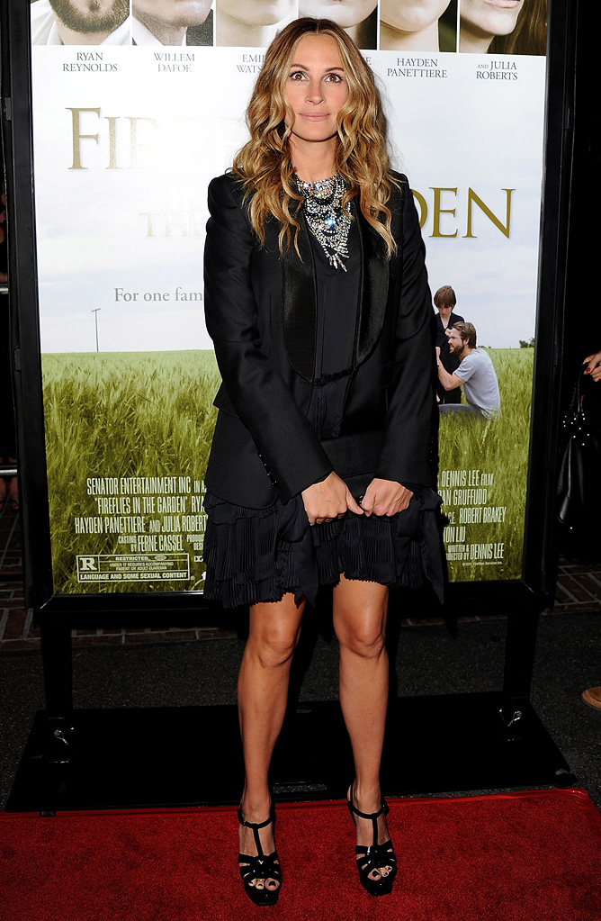 Fireflies in the Garden 2011 LA premiere Julia Roberts