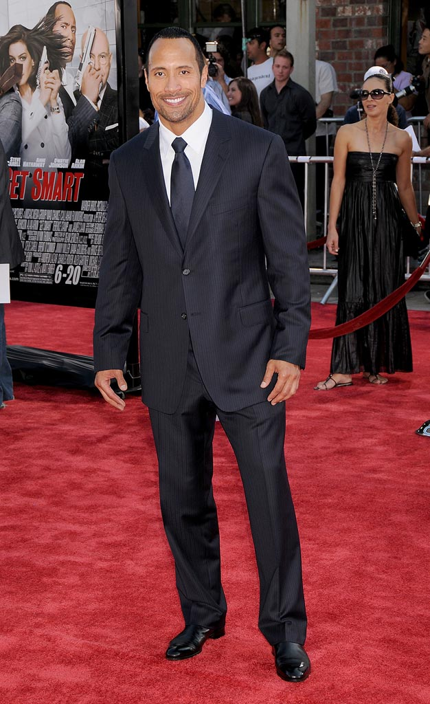 "Get Smart Premiere 2008 Dwayne ""The Rock"" Johnson"