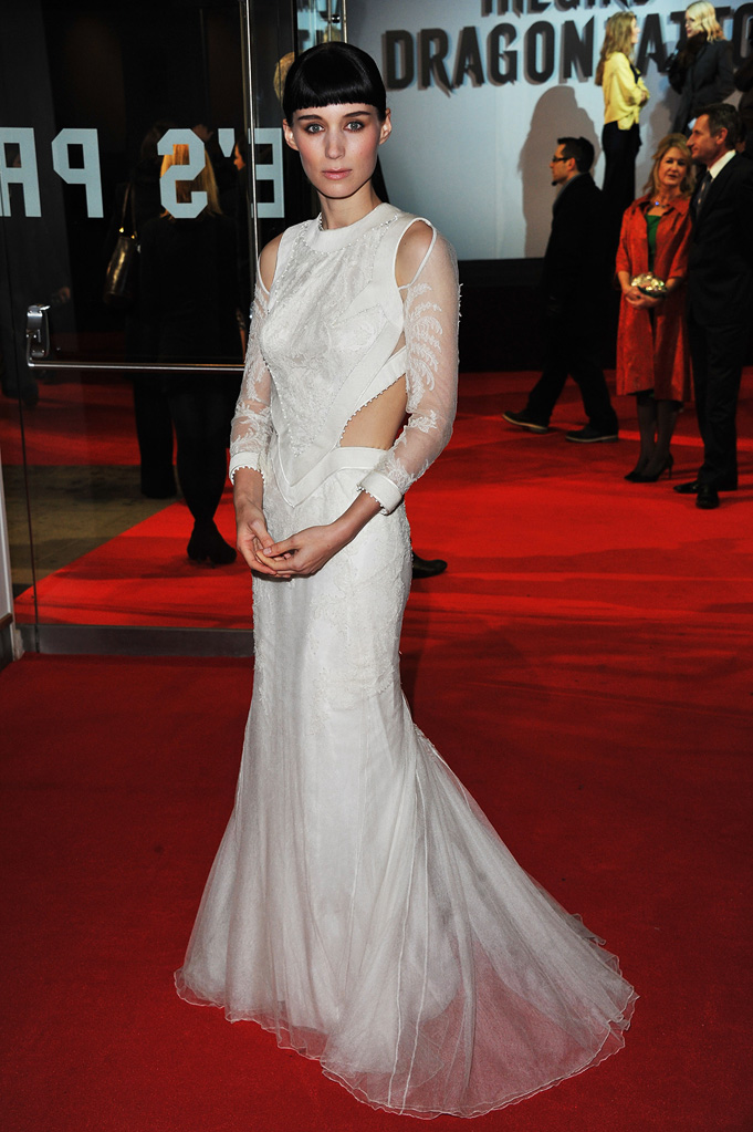 The Girl with the Dragon Tattoo 2011 UK Premiere Rooney Mara