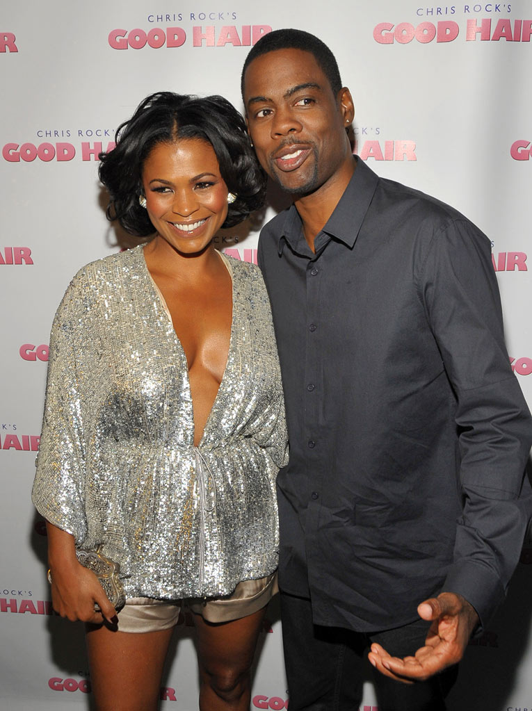 Good Hair LA Premiere 2009 Nia Long Chris Rock
