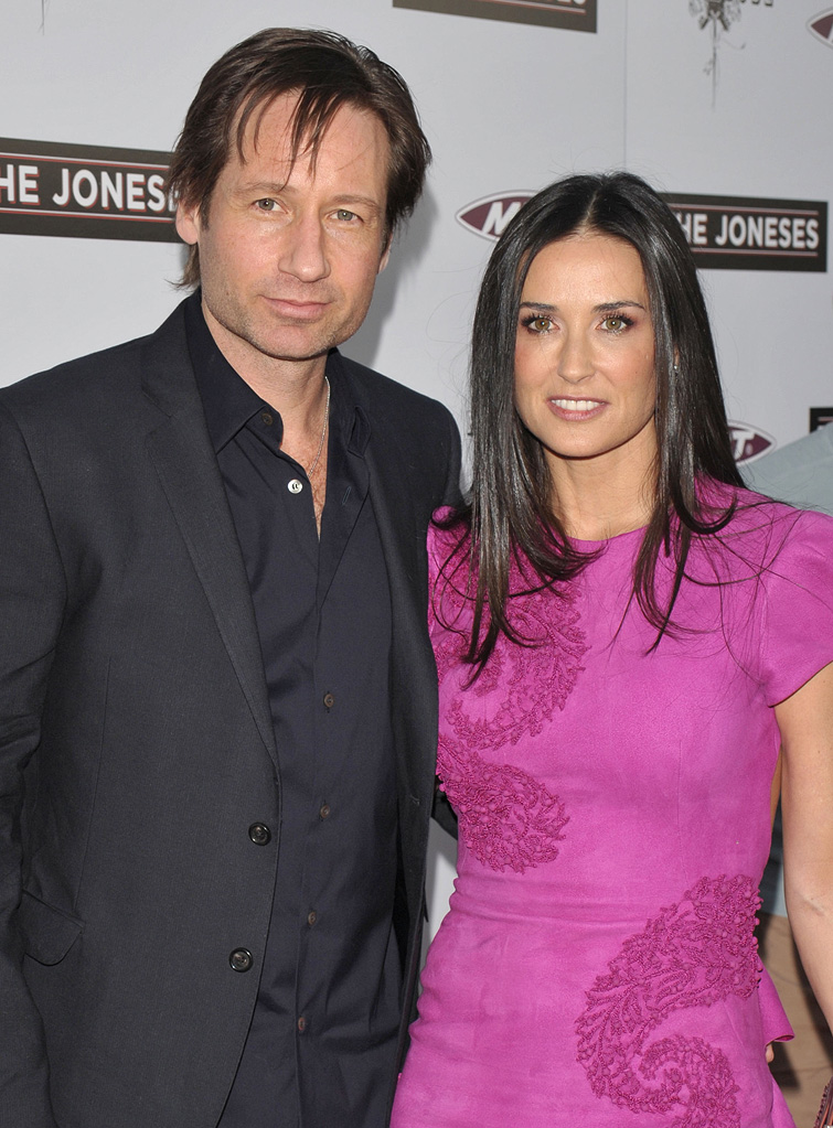 The Joneses LA Premiere 2010 David Duchovny Demi Moore