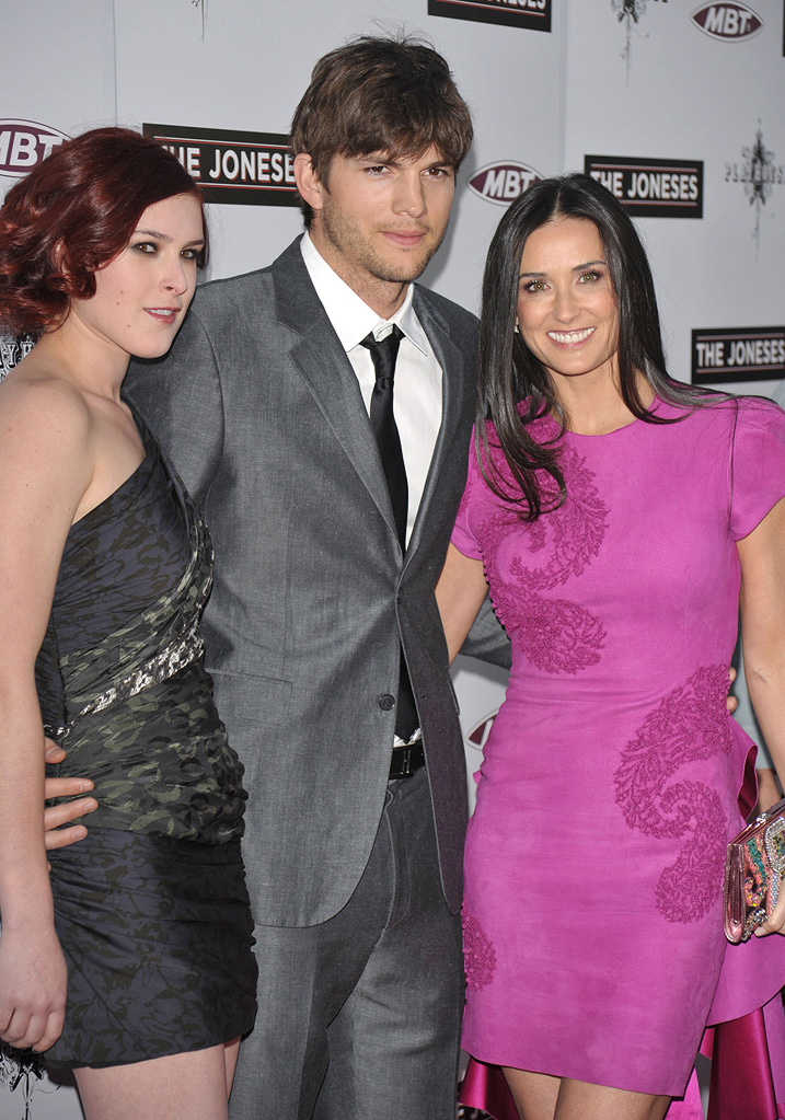 The Joneses LA Premiere 2010 Rumer Willis Ashton Kutcher Demi Moore