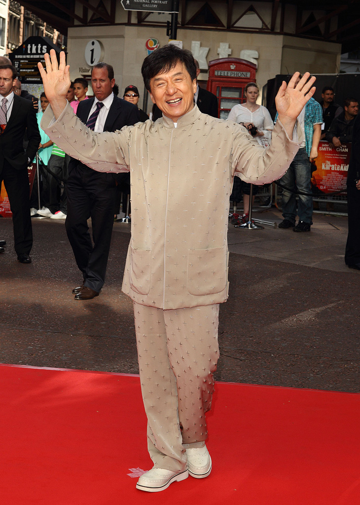 The Karate Kid UK Premiere 2010 Jackie Chan