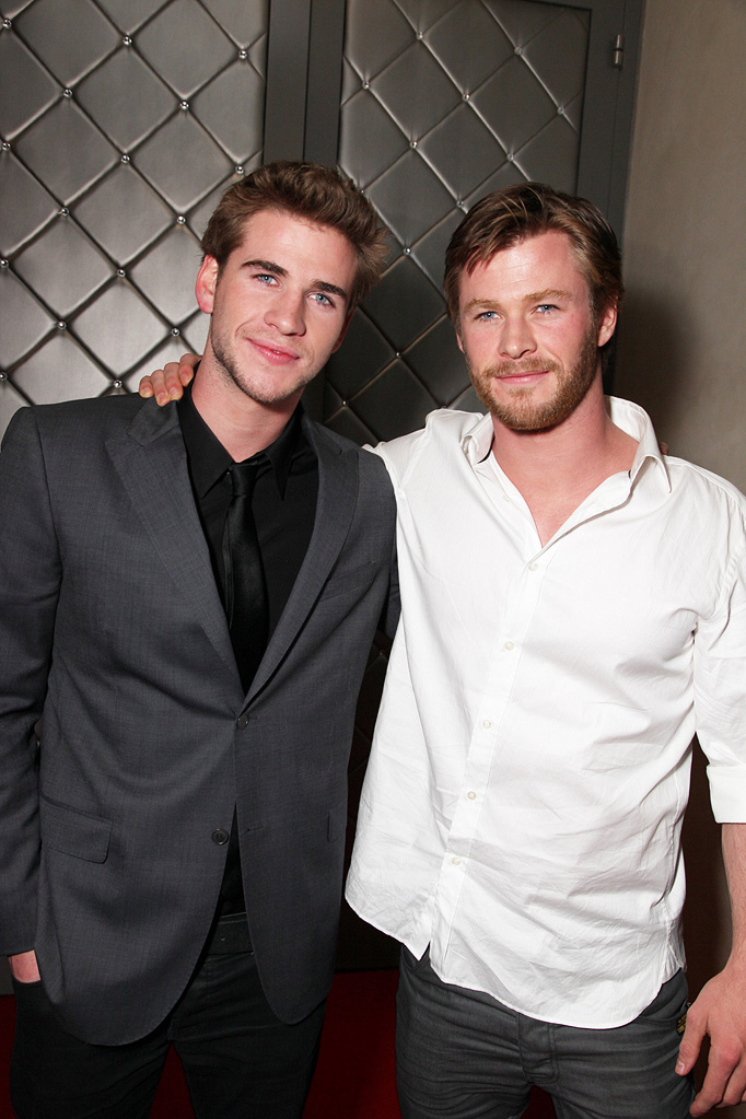 The Last Song LA Premiere 2010 Liam Hemsworth Chris Hemsworth