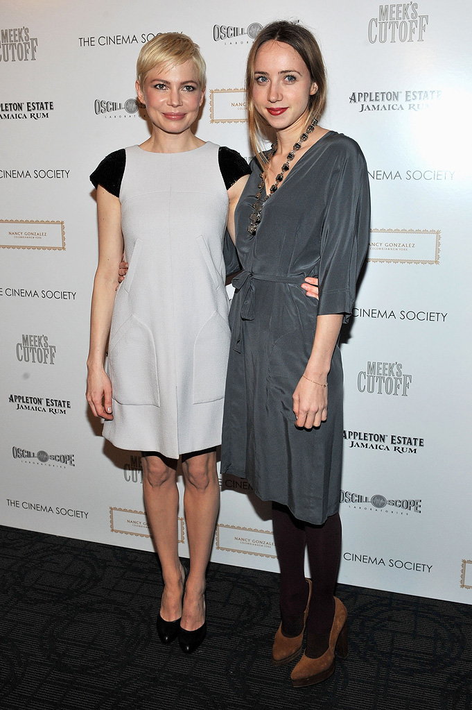 Meek's Cutoff NY Screening 2011 Michelle Williams Zoe Kazan