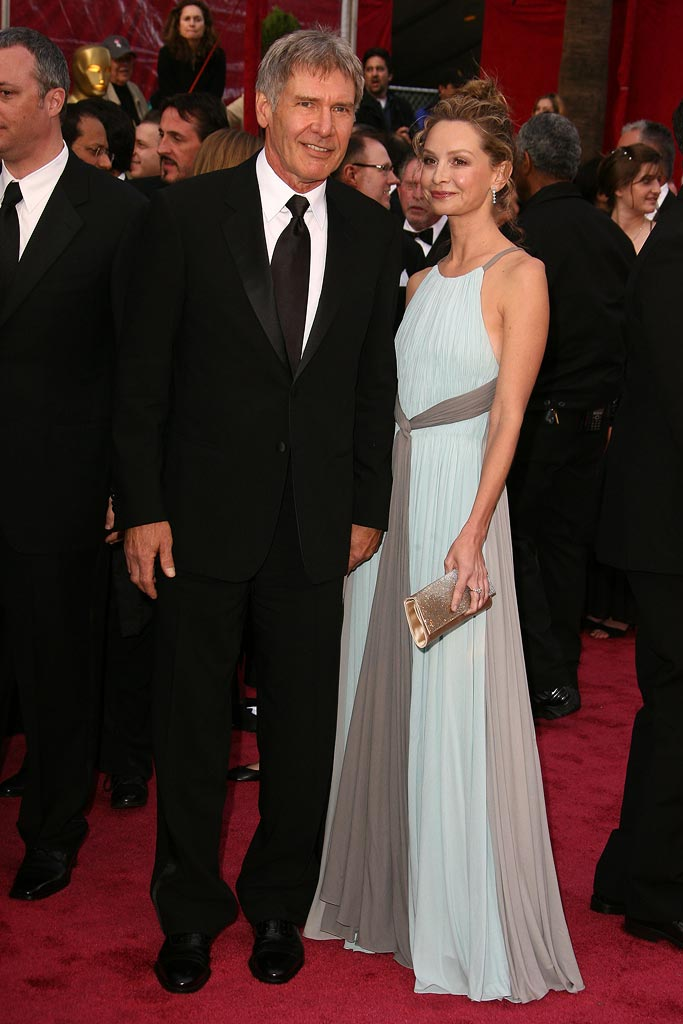 Oscars 2008 Harrison Ford Calista Flockhart