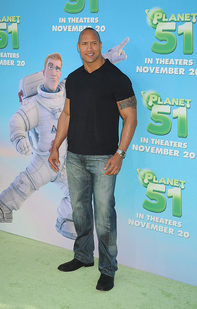 Planet 51 LA Premiere 2009 Dwayne Johnson