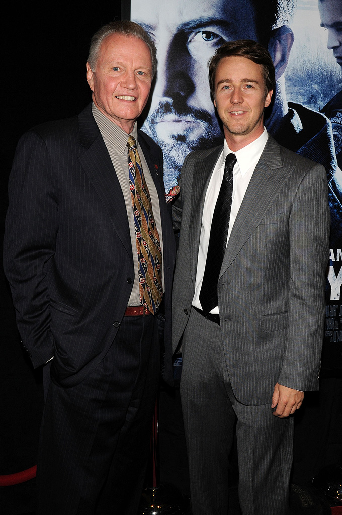 Pride and Glory NY Premiere 2008 Jon Voight Edward Norton