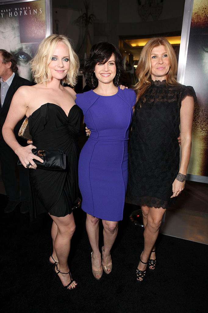 The Rite LA Premiere 2011 Marley Shelton Carla Gugino Connie Britton