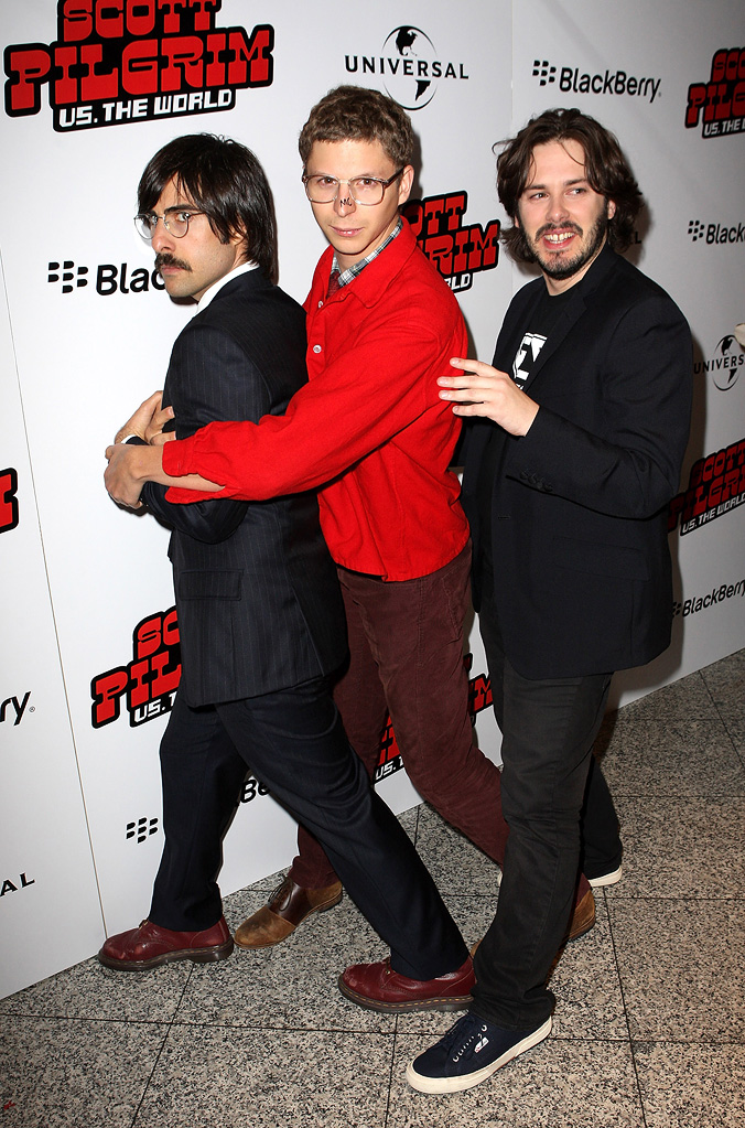 Scott Pilgrim vs the World UK premiere 2010 Jason Schwartzman Michael Cera Edgar Wright