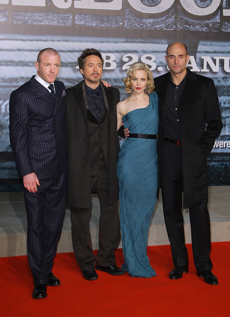 Sherlock Holmes Berlin Premiere 2010 Guy Ritchie Robert Downey Jr. Rachel McAdams Mark Strong