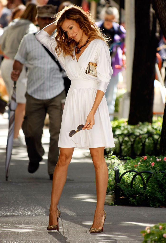 Spotted on Set Sarah Jessica Parker 2009