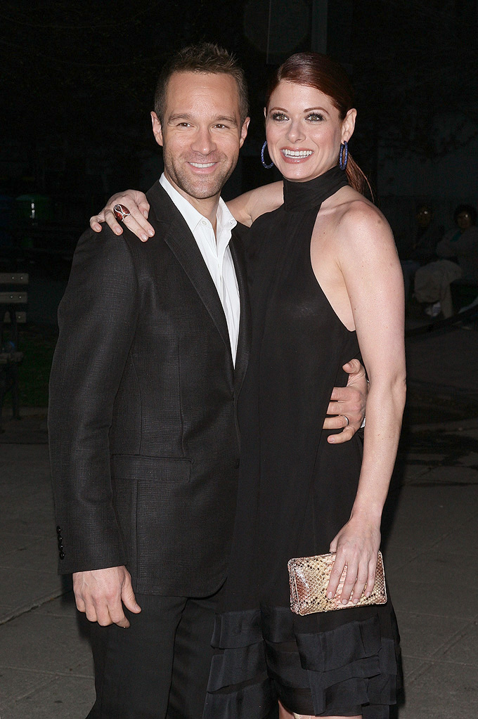 Tribeca Film Festival Vanity Fair Party 2009 Chris Diamantopoulos Debra Messing