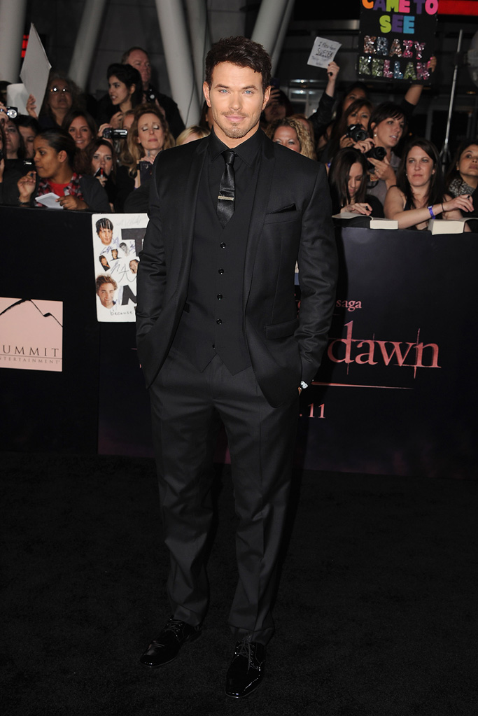 The Twilight Saga Breaking Dawn Part 1 2011 LA Premiere Kellan Lutz