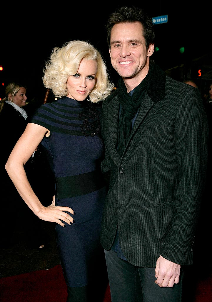 Yes Man LA Premiere 2008 Jenny McCarthy and Jim Carrey