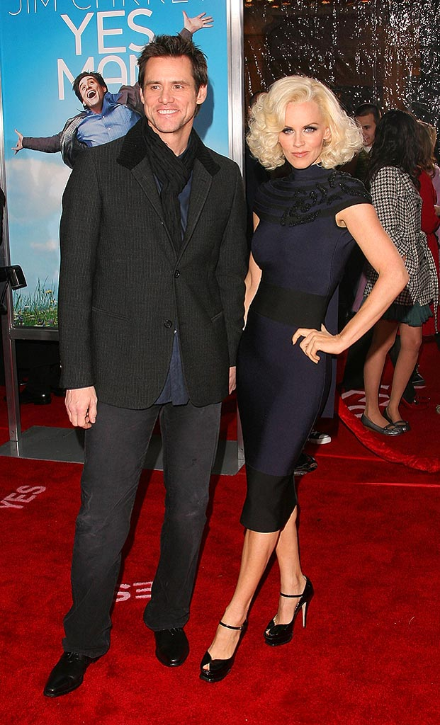 Yes Man LA Premiere 2008 Jim Carrey and Jenny McCarthy