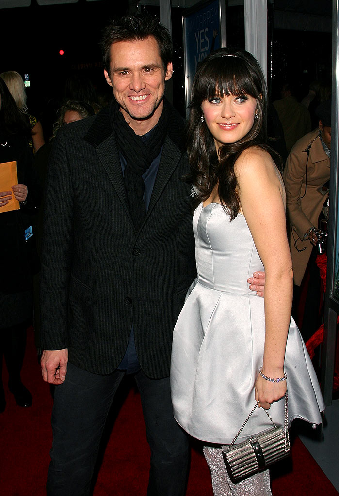 Yes Man LA Premiere 2008 Jim Carrey and Zooey Deschanel