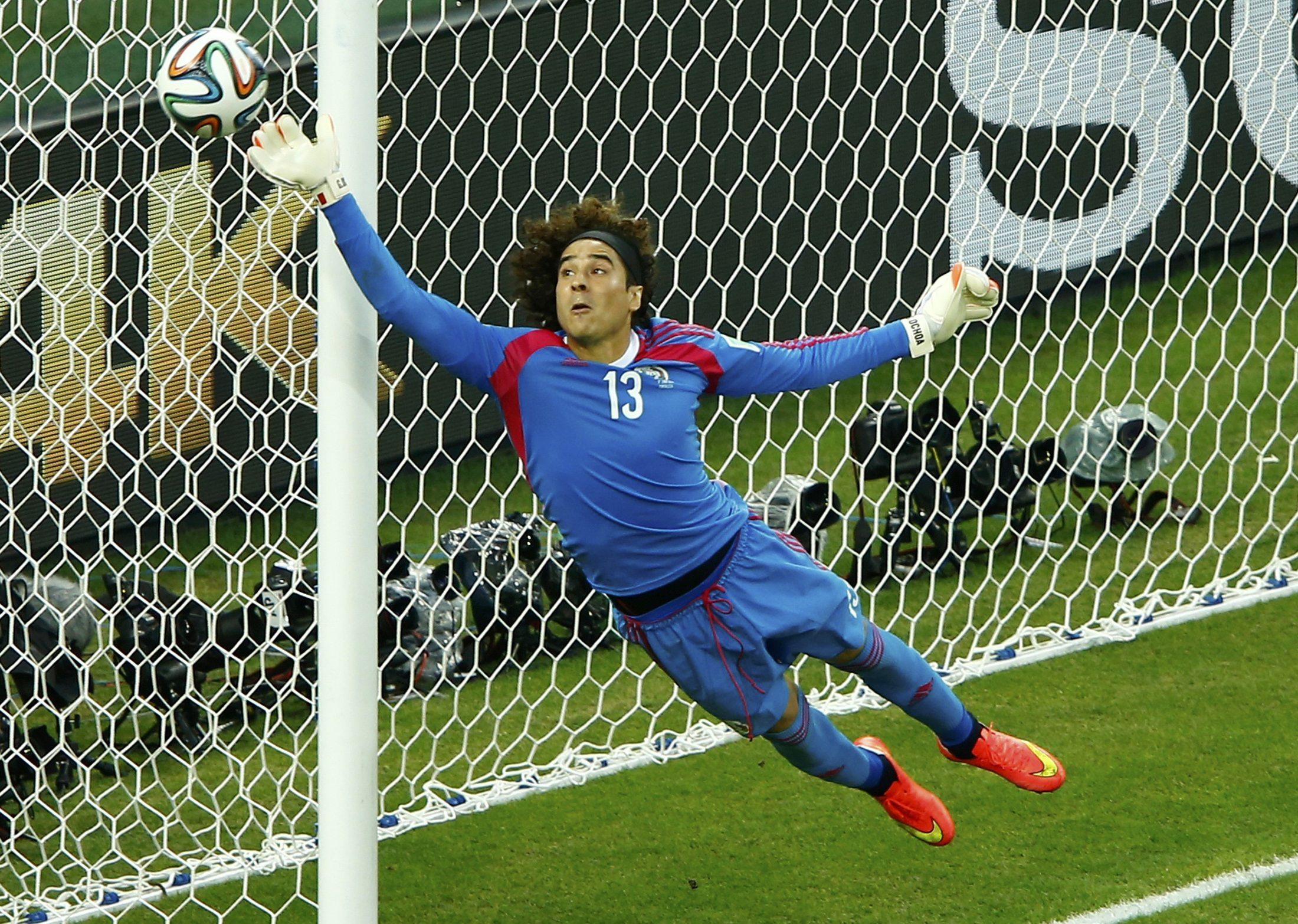 398dcf6e0 Guillermo Ochoa unveils long-awaited goalkeeping masterpiece against Brazil