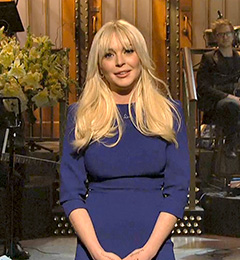 Lindsay Lohan Hosts SNL: How'd She Do?