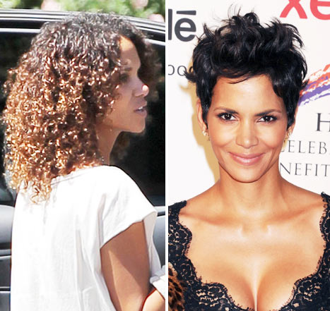Halle Berry Debuts Curly New 'Do