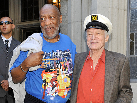 Photo of Bill Cosby & his friend  Hugh Hefner