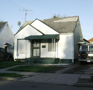 The former home of Robert Traylor's grandmother in Detroit.