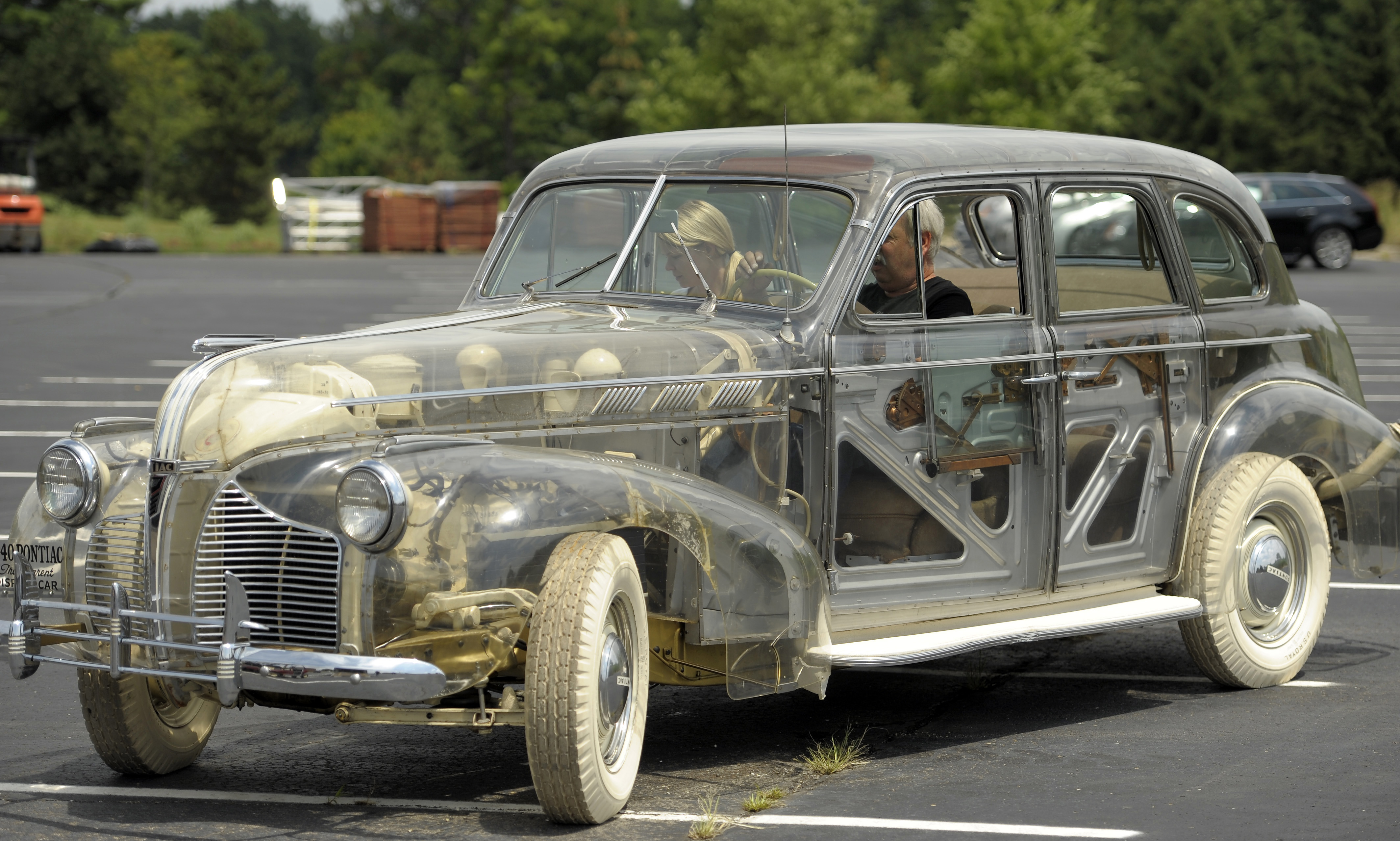 Wrote The 1939 Pontiac Deluxe 6 Also Referred To As Ghost Car Because Its Chis Was Constructed Of Plexigl Is Driven At Inn St Johns