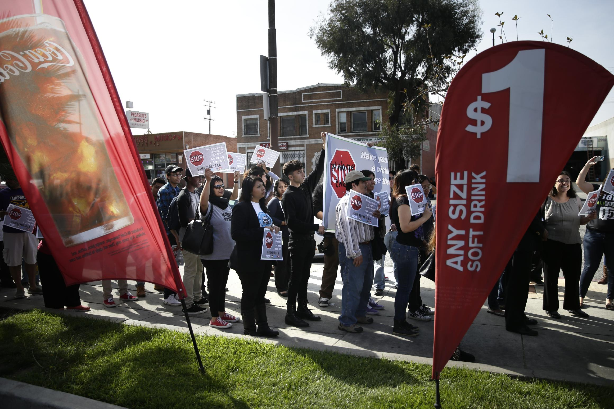 Fast-food workers sue McDonald's, claim wage theft