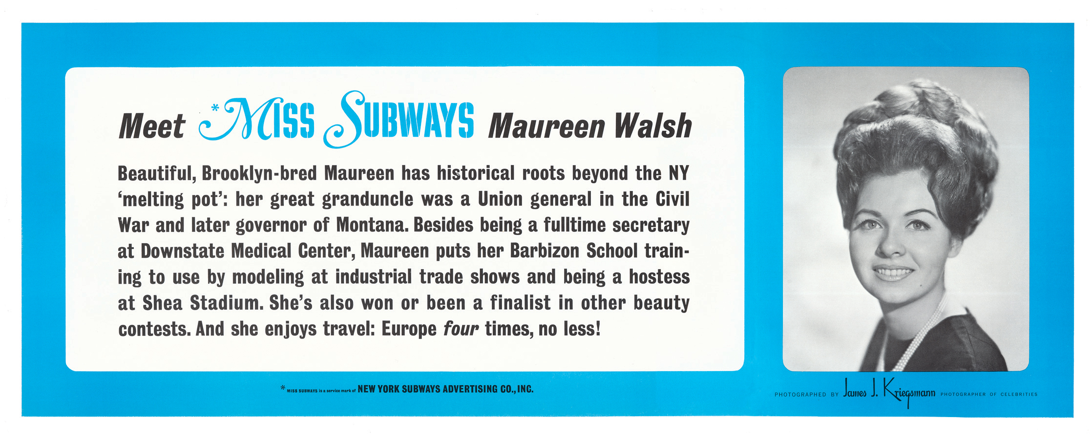 Decades of Miss Subways smiled on NYC straphangers
