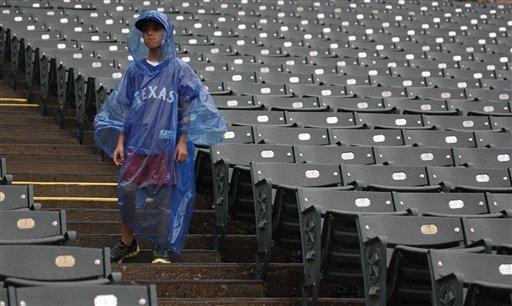 Angels-Rangers postponed by rain; play 2 Sunday