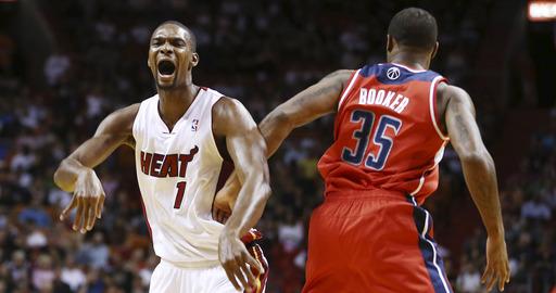 James, Bosh lift Heat past Wizards 103-93