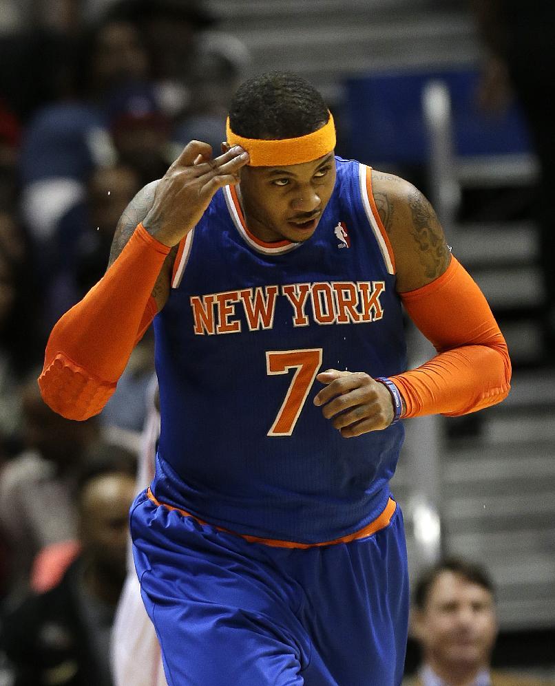 Anthony's 25 points lift Knicks past Hawks, 95-91