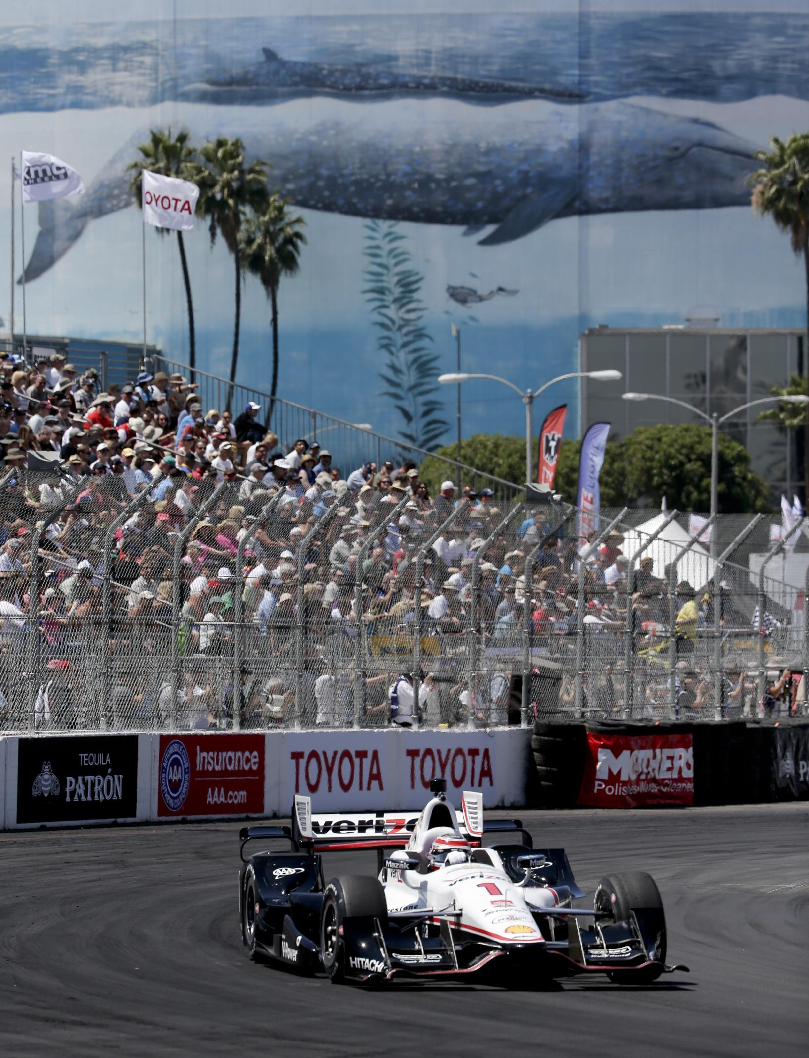 Power, Pagenaud fastest in 2 practice rounds at Long Beach