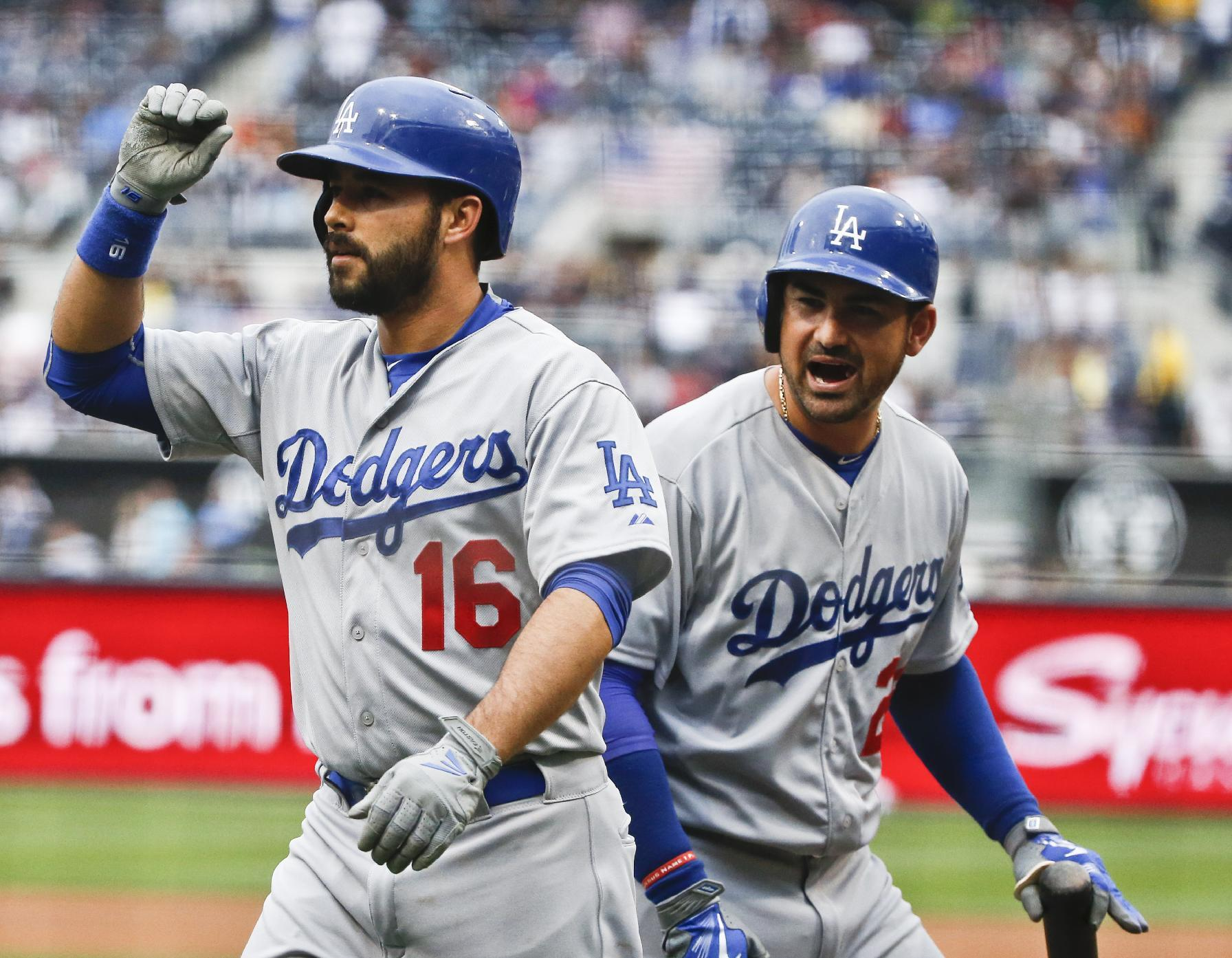 Gonzalez's 3-run homer leads Dodgers to 11-8 win over Padres