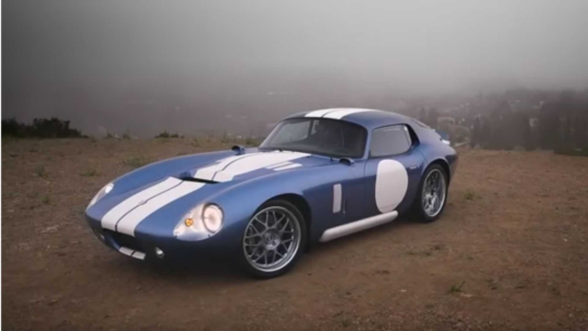 Watch This Controversial Electric Shelby Cobra Daytona In Action