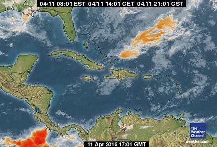 latest Carribean forecast