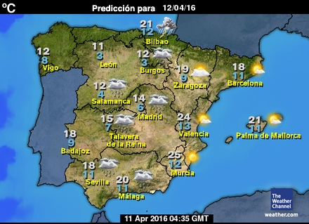 Mapa de pronósticos