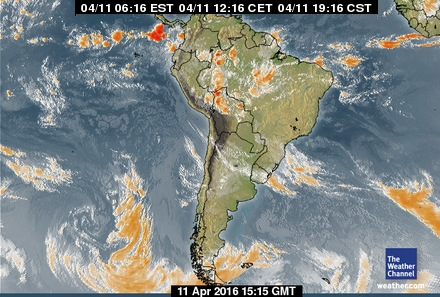 latest South American forecast
