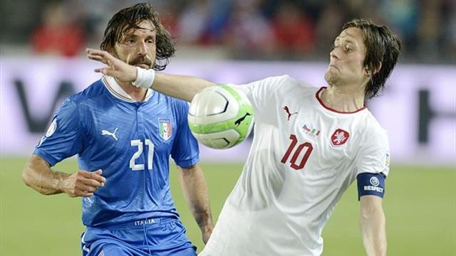 Clasificaci�n Mundial 2014 - Rep�blica Checa-Italia: La 'azzurra', pensando en la Confederaciones (0-0)