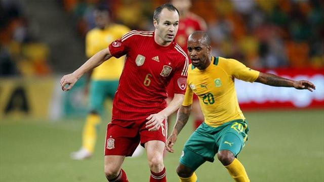 Amistosos - Sud�frica-Espa�a: Ni con cuatro porteros se evit� la derrota (1-0)