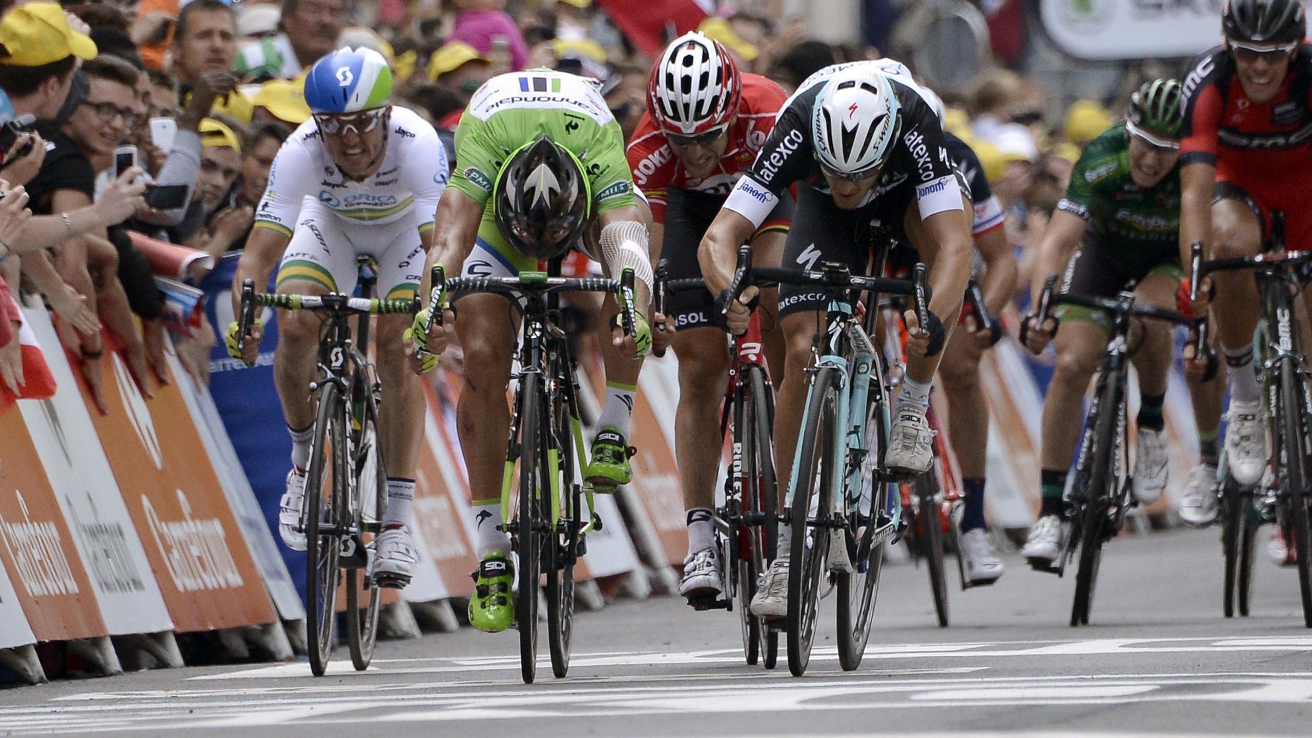 Tour de Francia - Trentin le quita el triunfo a Sagan por un cent�metro