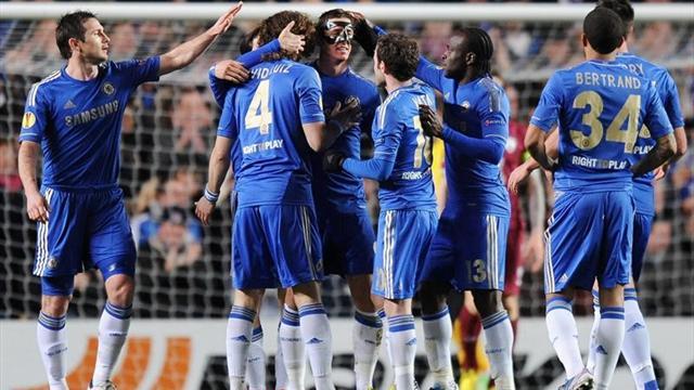 Europa League - Chelsea-Rub�n Kaz�n: Torres perfor� la roca (3-1)