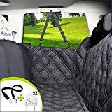 Meadowlark® Coprisedile per Cani Auto Posteriore. Impermeabile! Telo Auto per Cani, qualità Superiore, Protezione Integrale per Portiere, Poggiatesta & Sedile. Accessori Cane Auto + Cintura