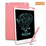Richgv LCD Writing Tablet, 10 Pollici Elettronico Tavoletta Grafica Digitale Scrittura, Ewriter Paperless Disegno Pad con Memoria di Blocco per Bambini della Casa Scuola Ufficio(Rosa)